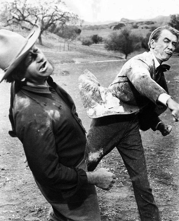 James Stewart And John Wayne In The Man Who Shot Liberty