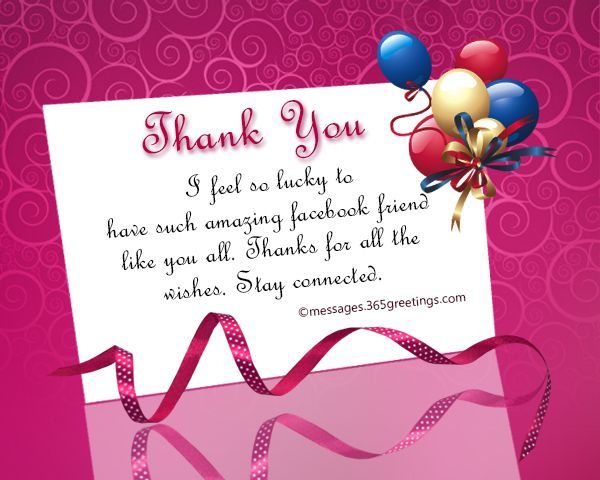 Thank You Message For Birthday Wishes On Facebook Birthday
