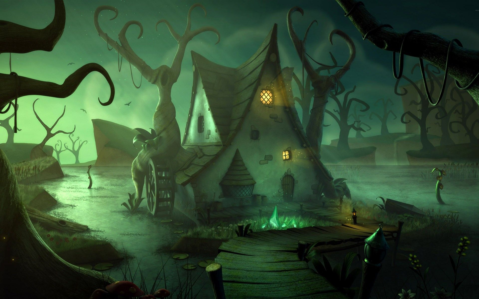 swamp art - Поиск в Google   Swamp   Halloween wallpaper ...