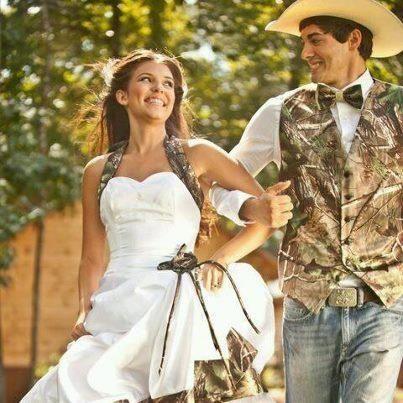 Wedding Dress Camo And Tux
