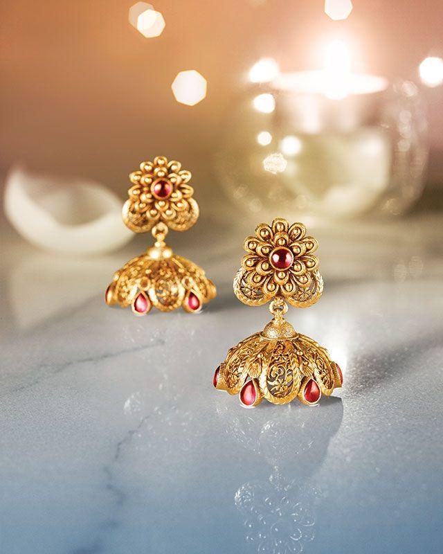 Designer Gold Earrings Tanishq 2017 Latest Design Womens ...