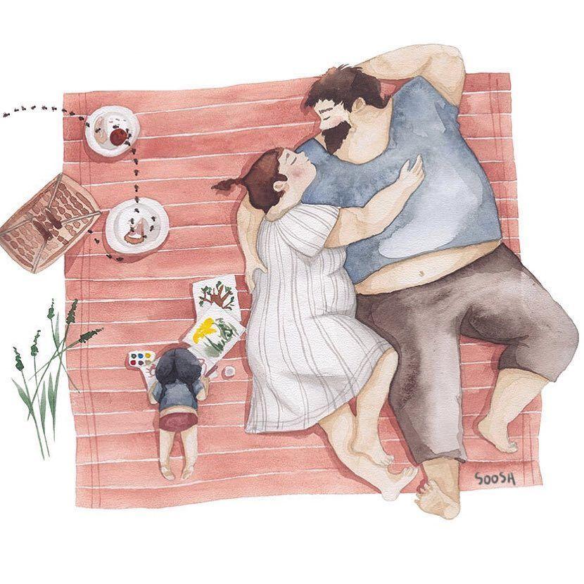 Семейные картинки со смыслом нарисованные, нарисовать конец открытки