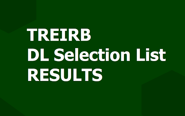 Treirb Dl Selection List Results 2019 Degree Lecturers Final