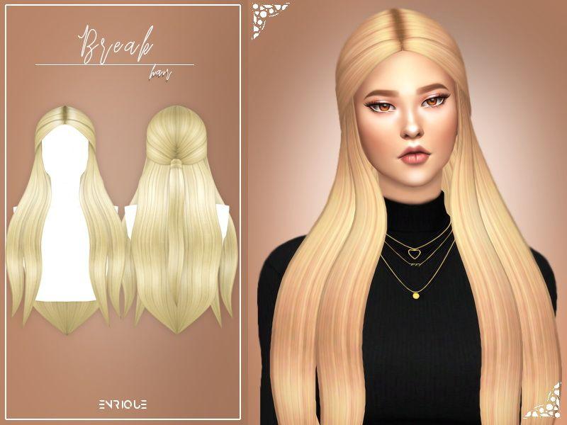 Enrique Break Hair Sims 4 Hairs Sims Hair Womens Hairstyles Sims