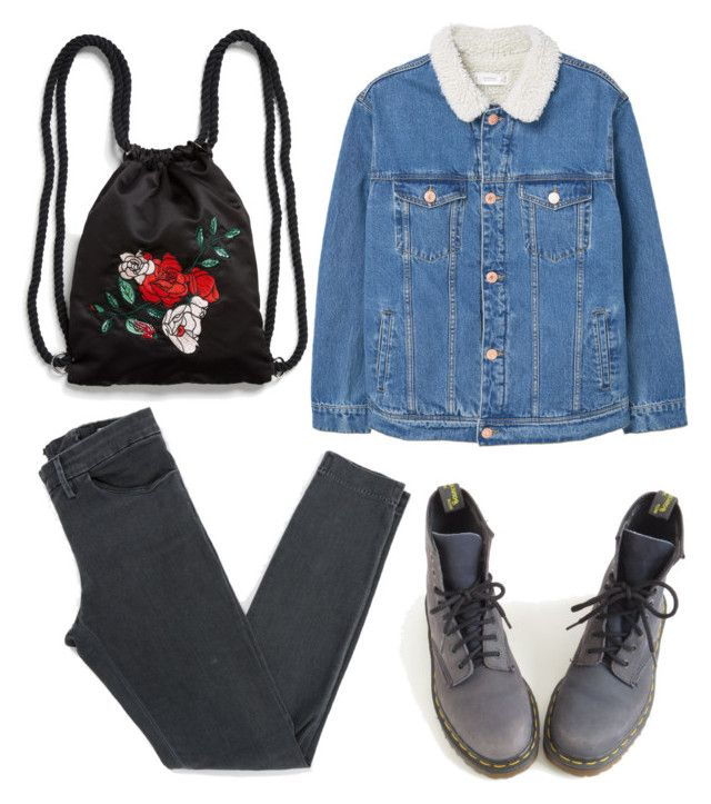 """🕷"" by lozovaya-ekaterina on Polyvore featuring мода, MANGO, Acne Studios, Dr. Martens и Monki"