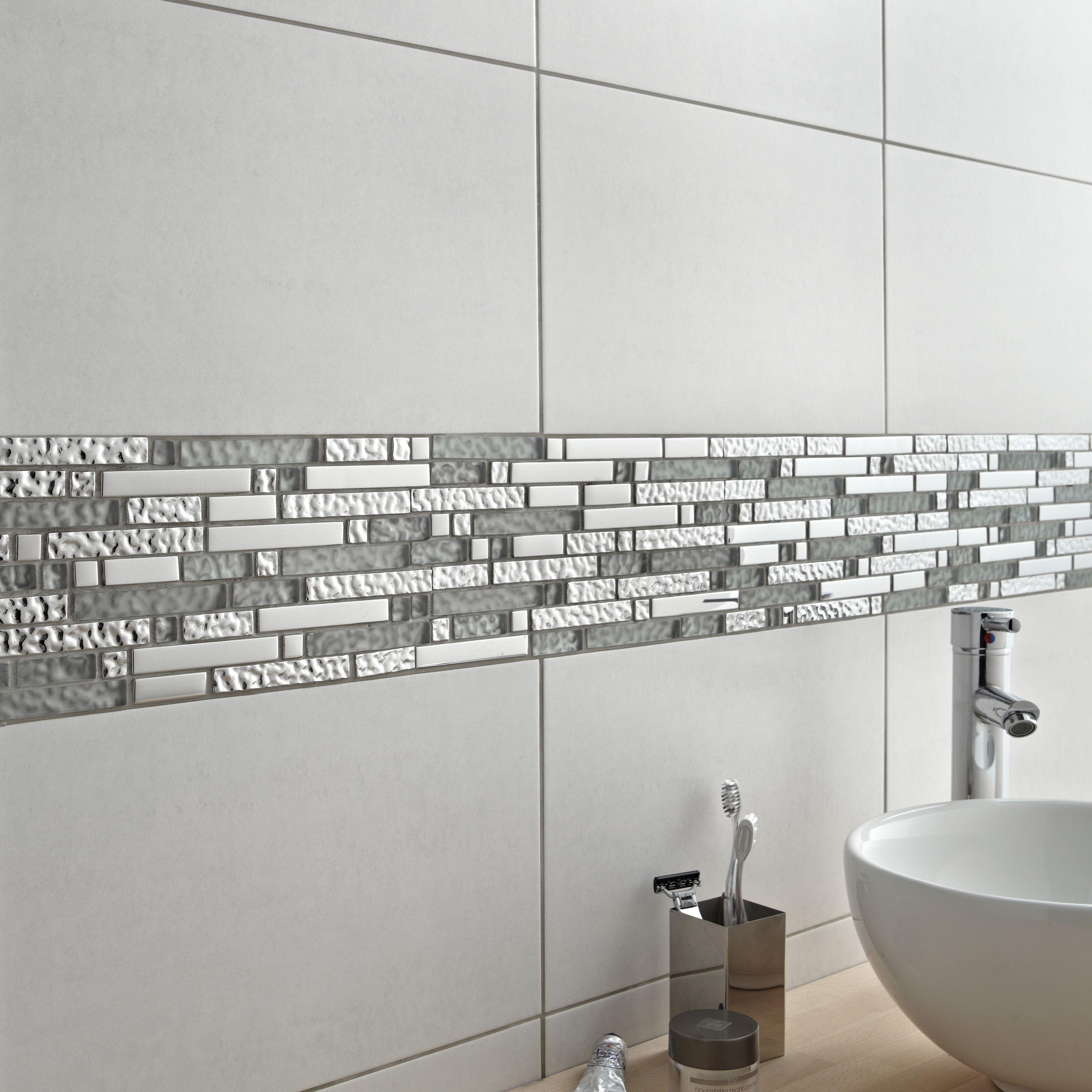 Mosa que ice tendance salle de bain deco salle de bain - Mosaique adhesive pour salle de bain ...