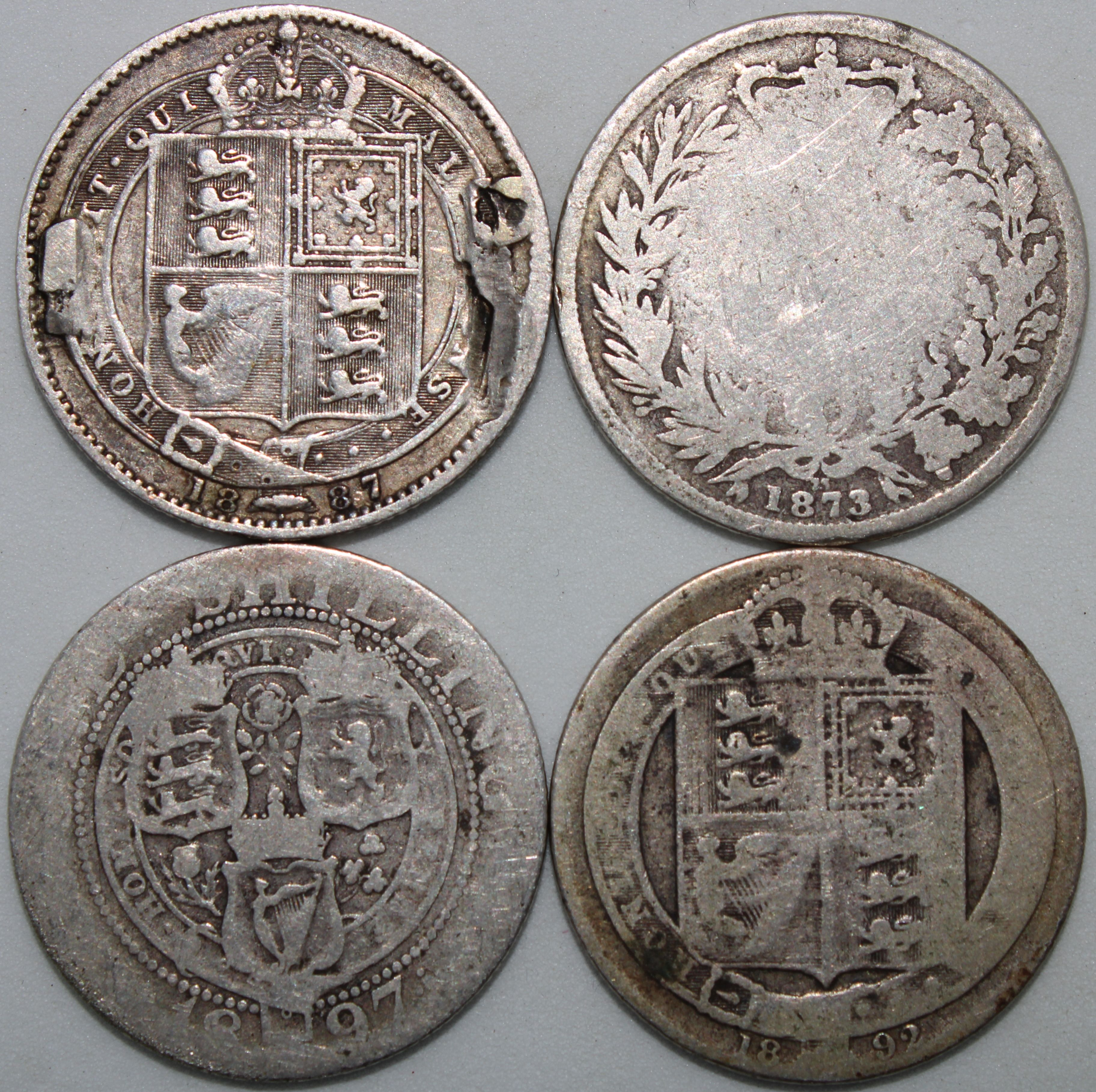 Details about Mix Of Victoria One Shilling Coins | Silver
