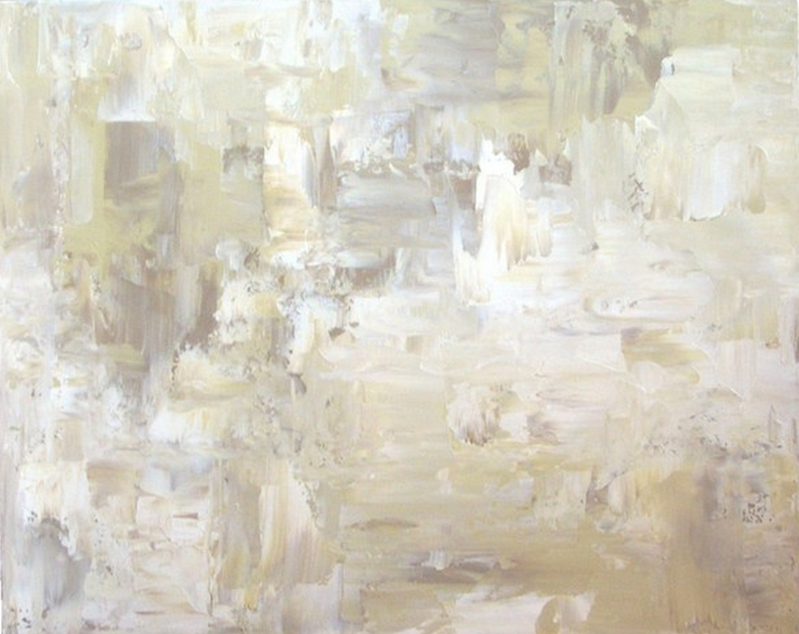 Art in the abstract modern painting neutral abstract for Neutral white paint