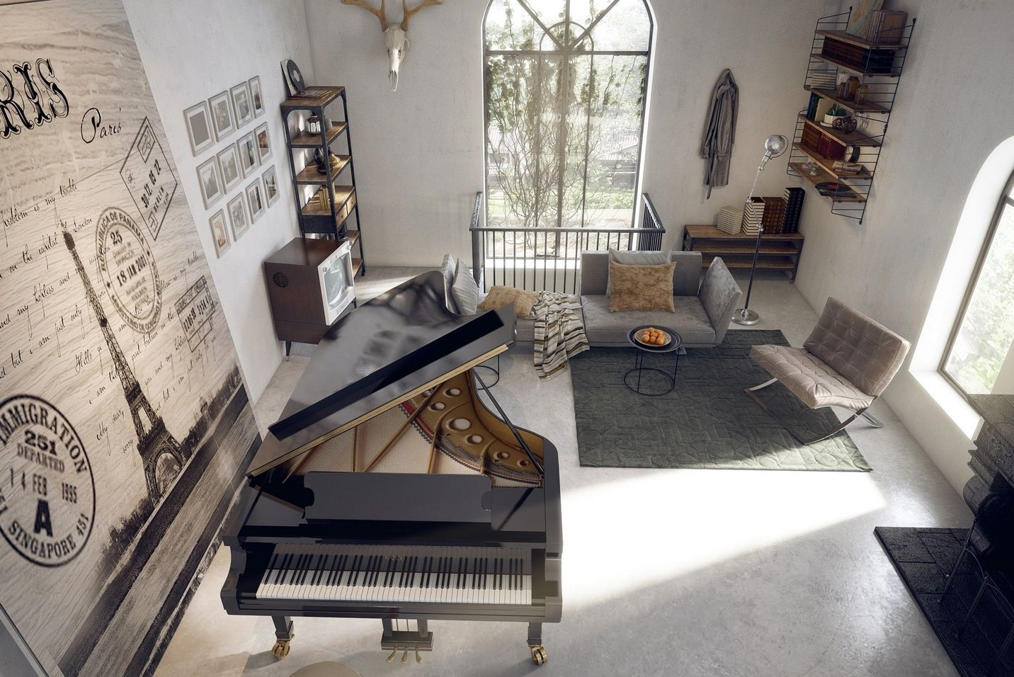 Living Room Luxury Layout Decadence Game Grand Piano Certainly Make Focal Point