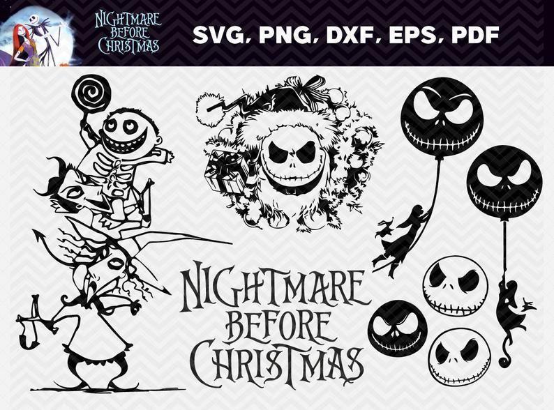 60 Nightmare Before Christmas SVG Bundle Etsy in 2020