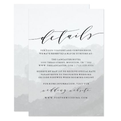 Watercolor mist wedding details card weddings wedding watercolor mist wedding details card weddings wedding invitation cards and card wedding stopboris Images