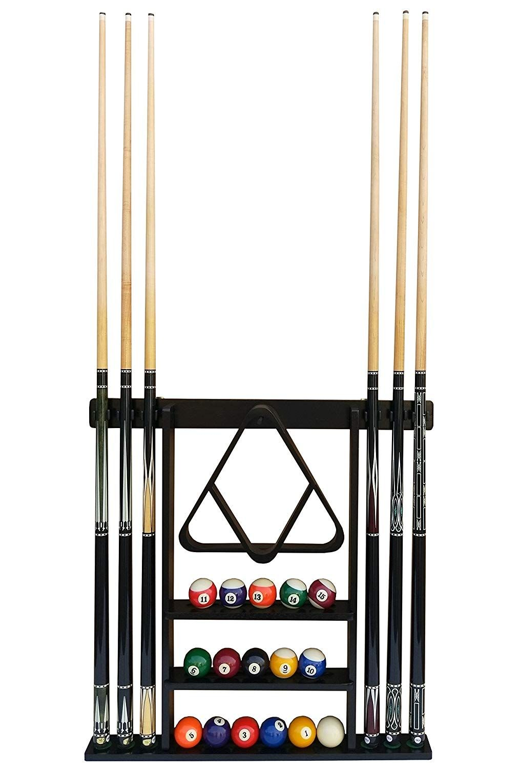 Amazon Com Flintar Wall Cue Rack Stylish Premium Billiard Pool Cue Stick Holder Made Of Solid Hardwood New Pool Cue Rack Pool Table Accessories Cue Stick