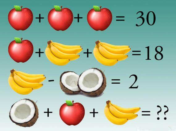 Fruit Addition Puzzle