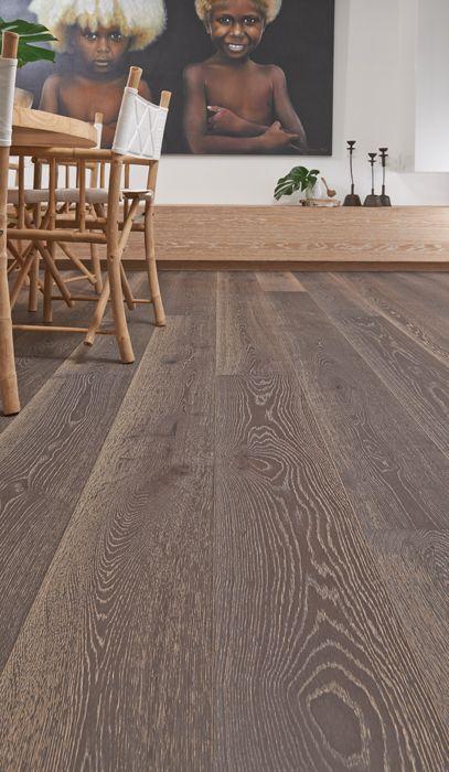 Dark And Timeless Our Exclusive Plantino Engineered Oak 1 Strip Wide Board 240mm In Pompeii Will Creat Beautiful Flooring Engineered Oak Dark Wood Floors