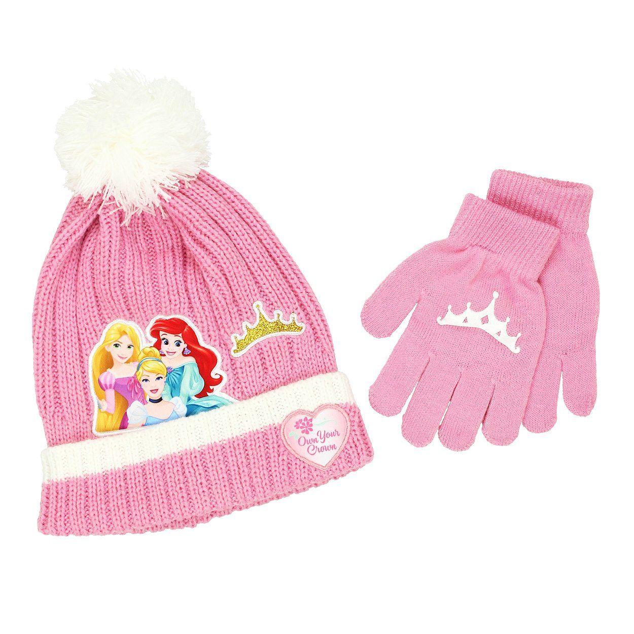 b9a85cecb5d Disney Princess Girls Beanie Hat and Gloves Set (Little Kid Big Kid ...