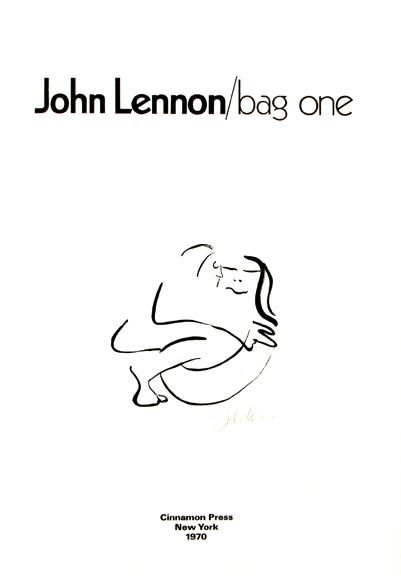 """""""Bag One"""" -cover. Lithograph by John Lennon available at the R. Michelson Galleries or at rmichelson.com"""