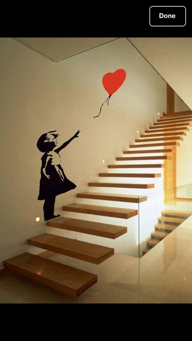 Banksy stair sticker. | Dream room | Pinterest | Banksy, Dream rooms ...