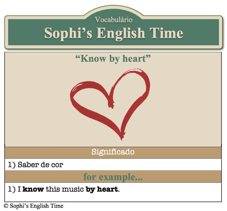 Vocabulário: Know by heart
