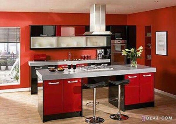 Pinوردة فيرساي On طبخ وحلويات  Pinterest Simple Kitchen Cabinet Color Design Inspiration Design