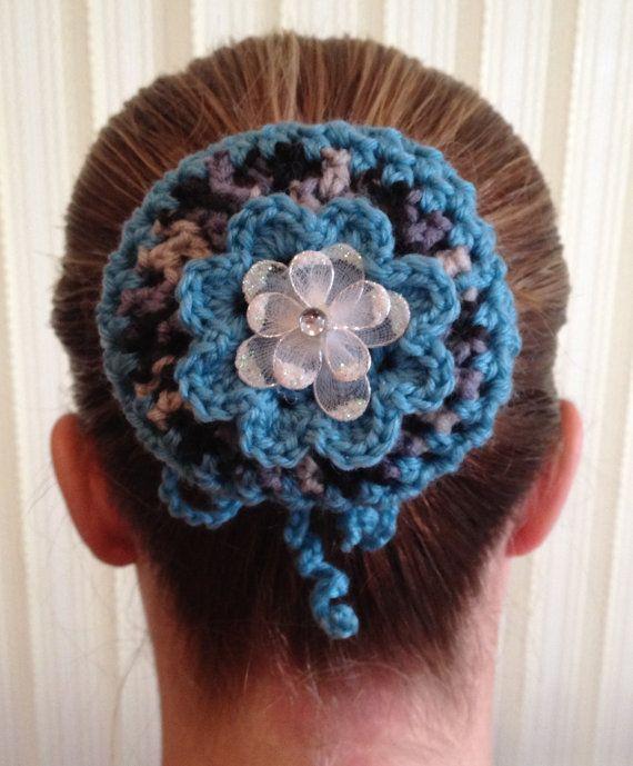 Hand Crocheted Hair Bun Snood / Bun Cover | Amor al Crochet ...