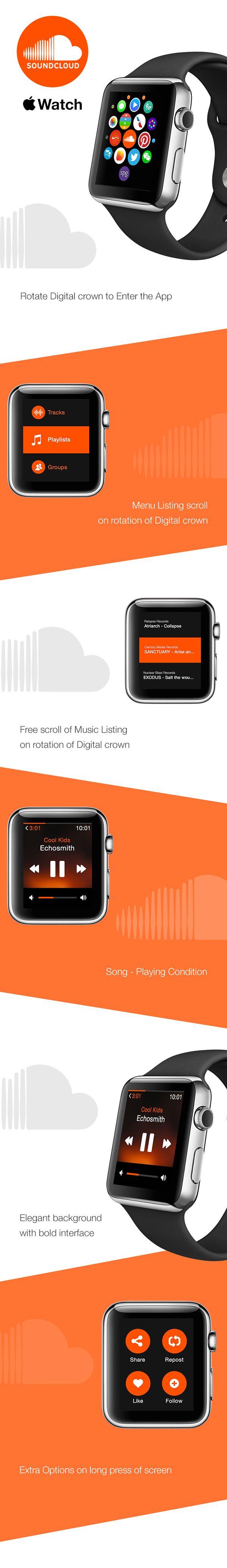 Soundcloud Apple watch on Behance Apple watch design