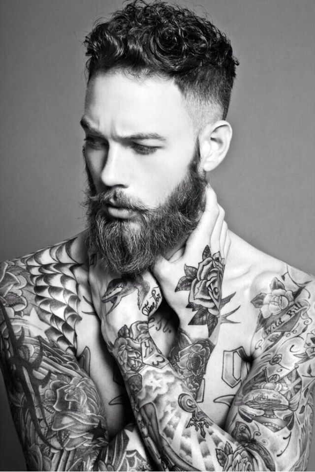 a16cc6617 tattooed/bearded/men - Google Search | eye candy | Beard tattoo ...