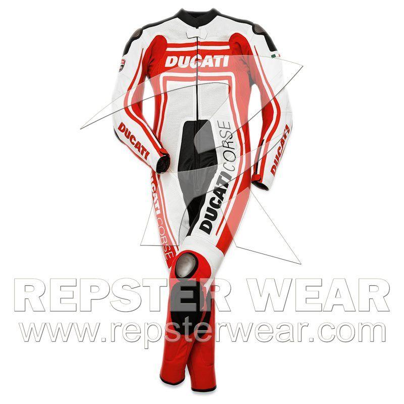 Ducati Motorbike Racing One Piece Leather Suit Women's