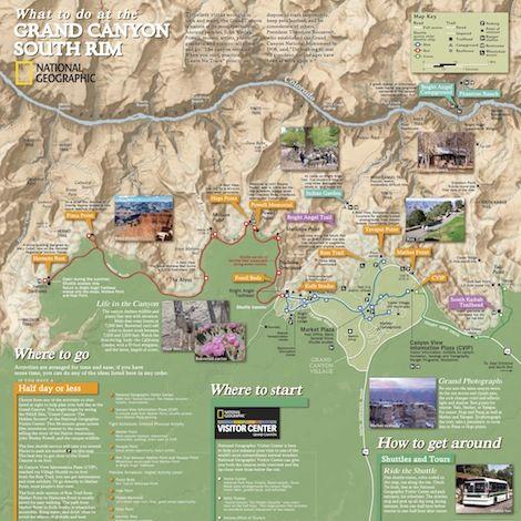 Grand Canyon Map Where Is Grand Canyon AZ Address A Cross - Grand canyon west rim map