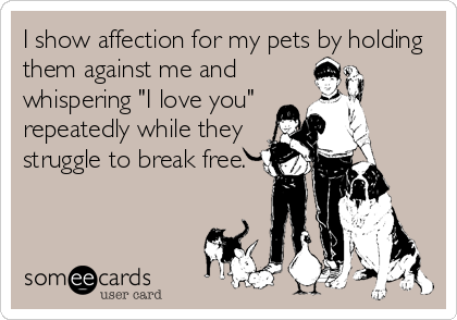 452a679e125c619e6ee2666d73dbaf65 i show affection for my pets by holding them against me and