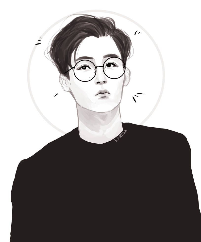 Yjh W Short Hair And Glasses By Kkojika With Images Anime Hair