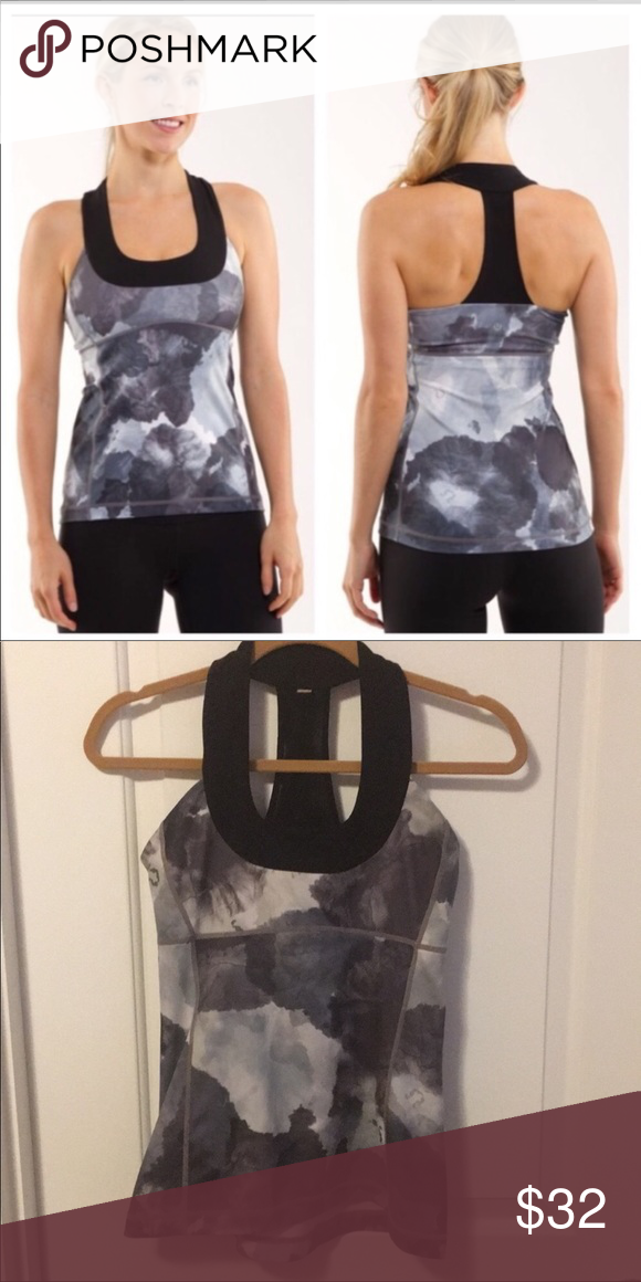 bc05696c97a55 Lululemon scoop neck tank size 8 Super cute gray and black tank this is the  scoop