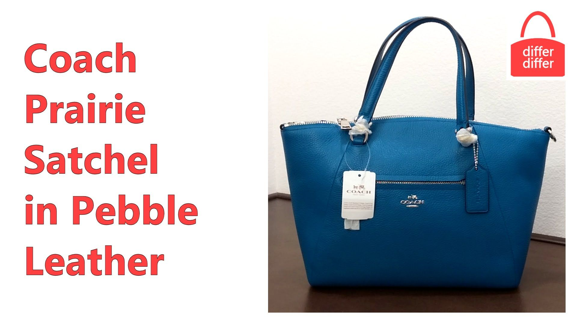 766a393f2219 Coach Prairie Satchel in Pebble Leather 34340