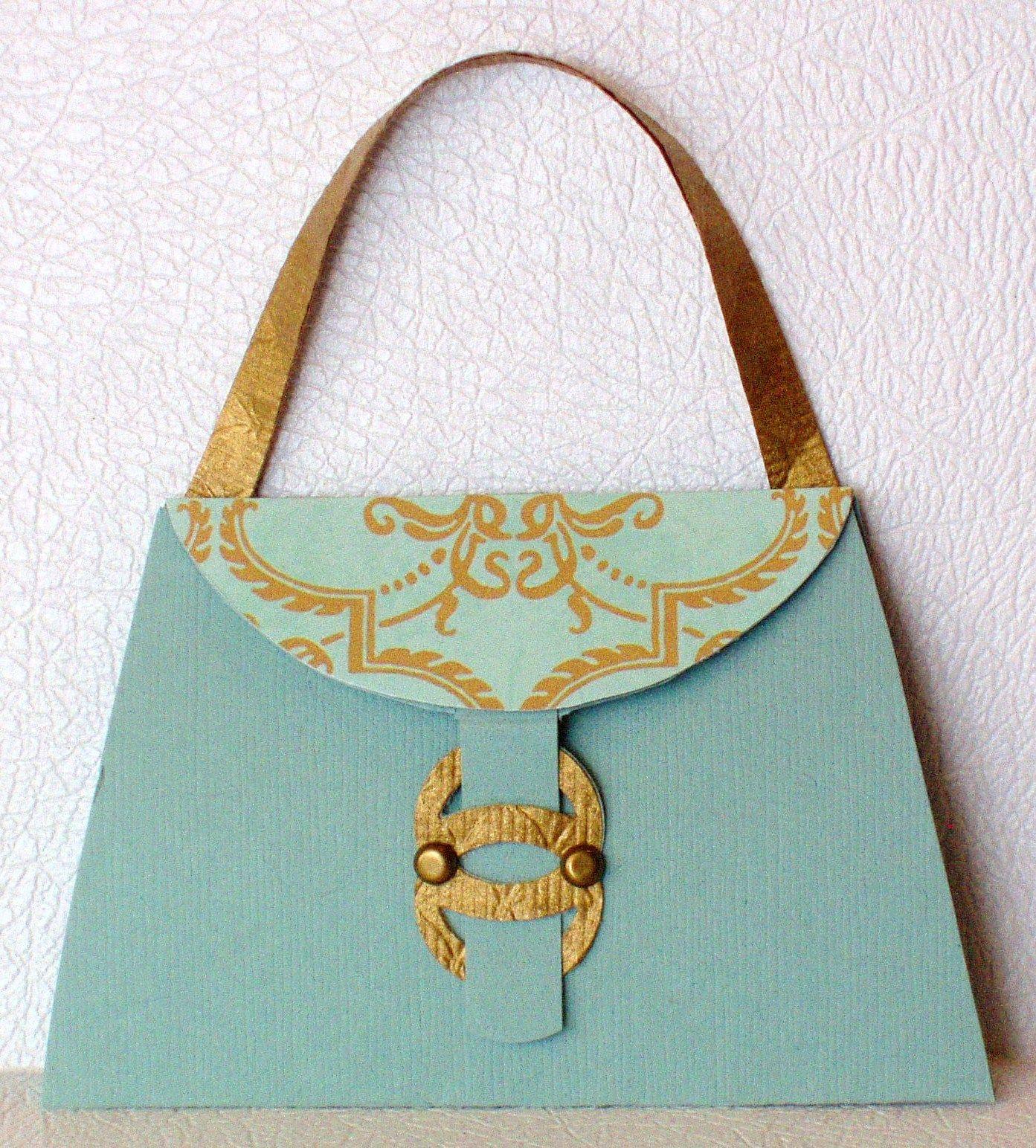 coco chanel teal purse - g.c. card © 2010
