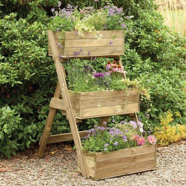 Forest Garden Cascade Wooden Raised Vegetable Bed Planter