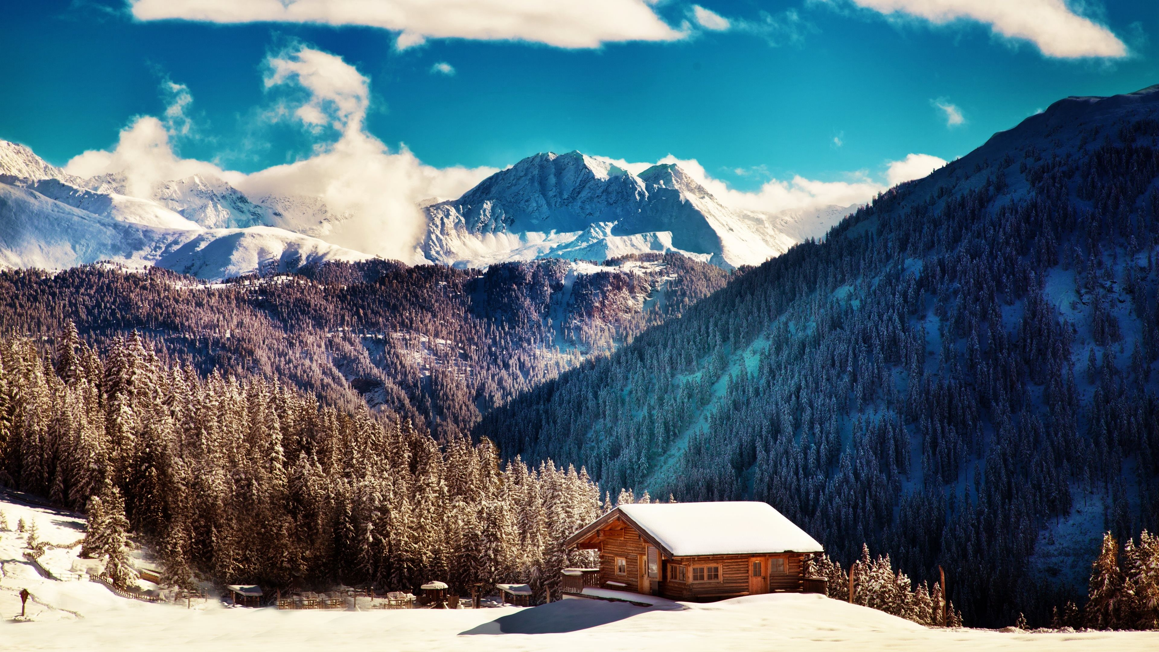 Free Awesome Cabin Backround 1937 Kb Cadman Wilkinson Landscape Wallpaper Winter Wallpaper Nature Wallpaper