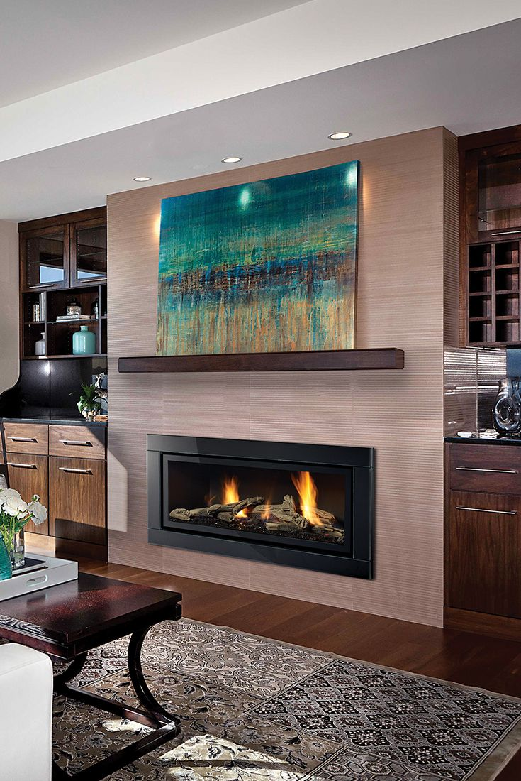 living room designs with fireplaces 2020 | Regency HZ54E Contemporary Gas Fireplace in 2020 ...