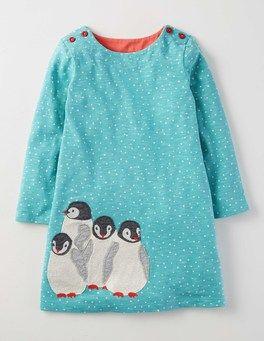d9eab3dc75f2 Arctic Penguins Snowy Friends Dress Boden
