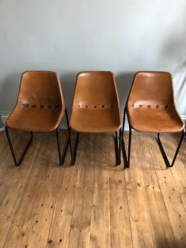 Details About Retro Brown Leather Bucket Chairs Artofit