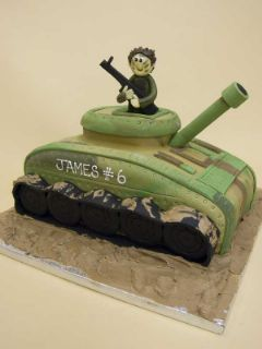 tank cake by thecakeshopcouk Cakes For Guys Pinterest