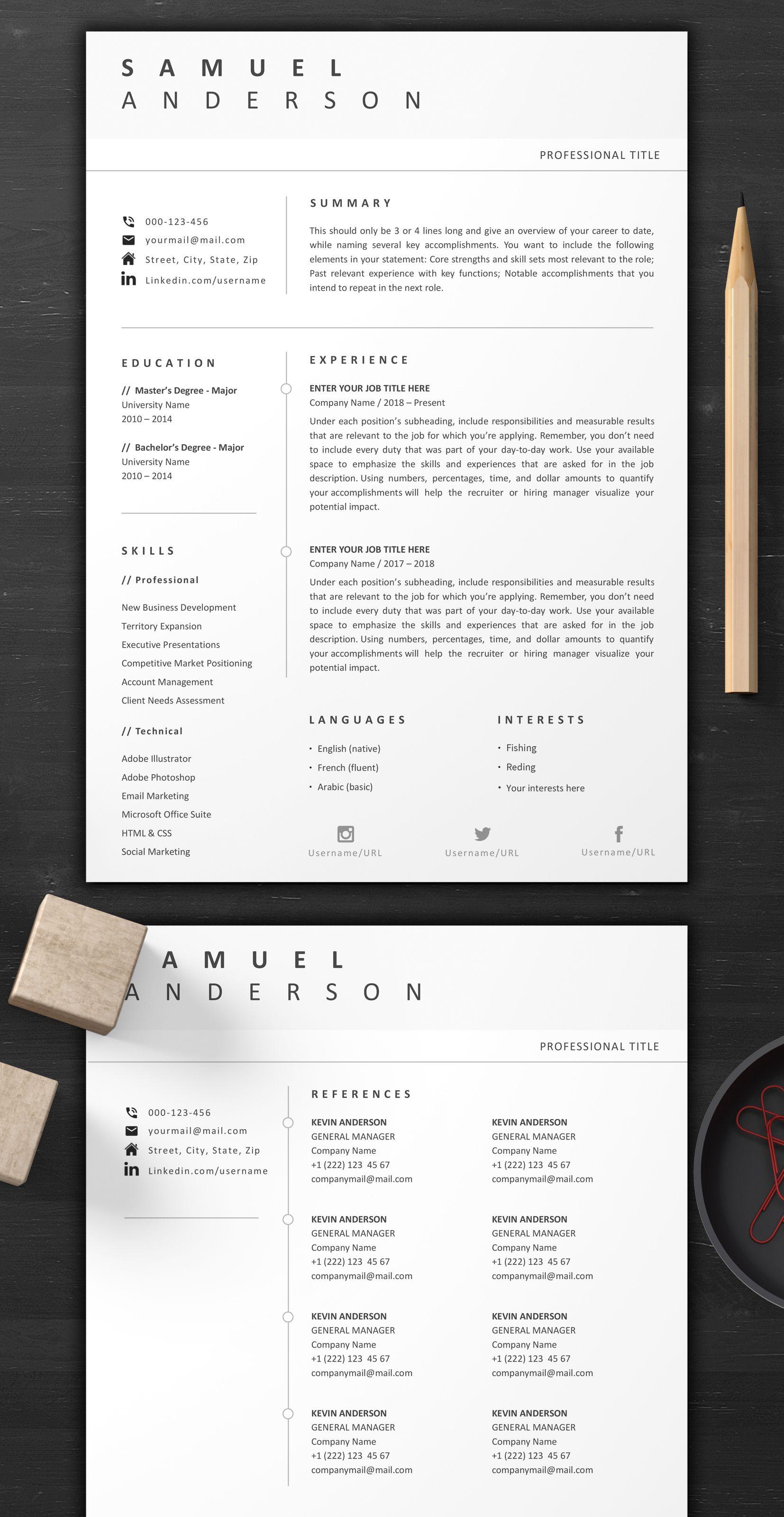 Custom resume templates 3 page resume 2 versions