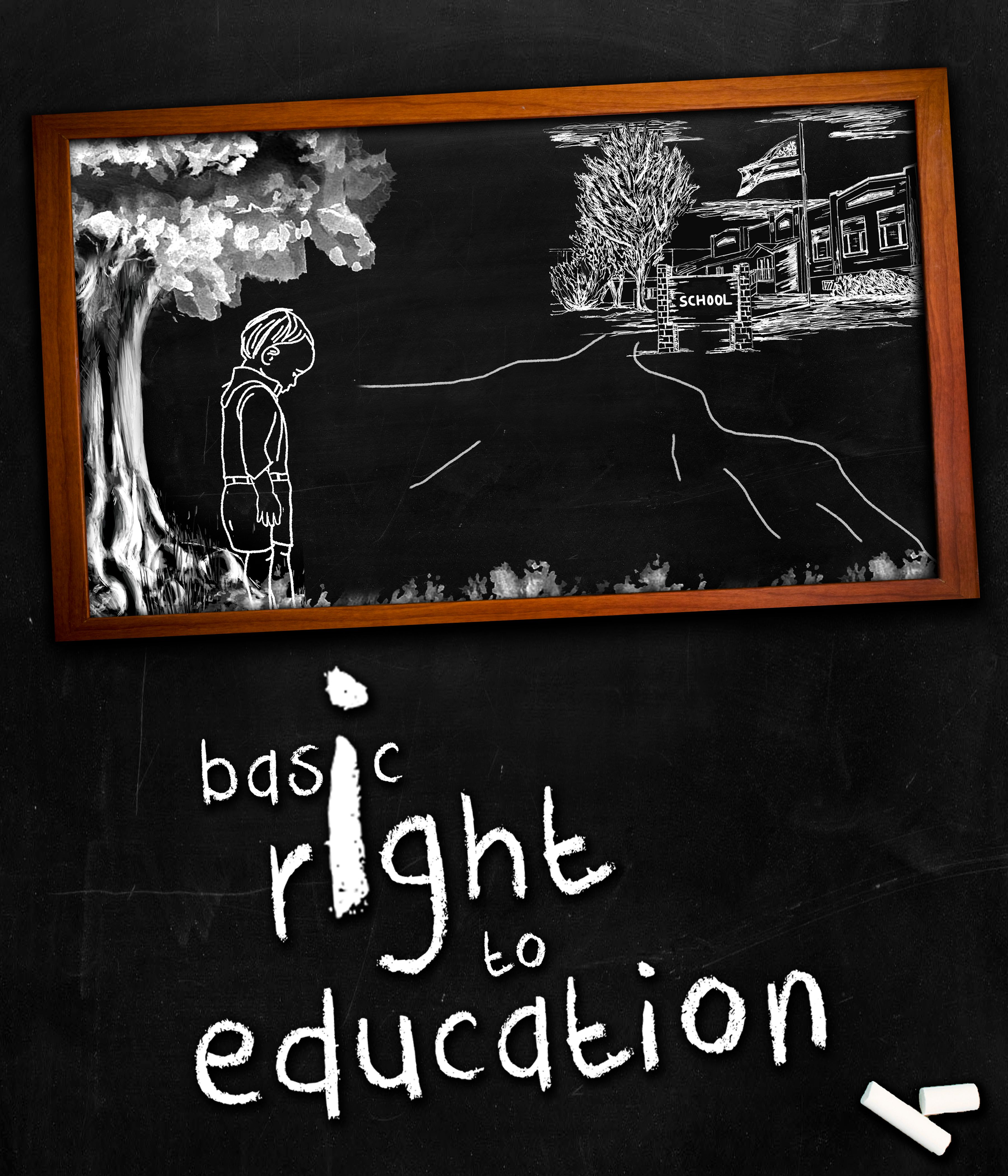 Photoshop poster design youtube - Right To Education Short Film Poster Design