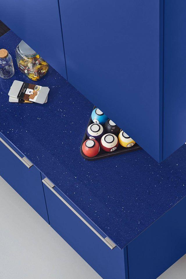 Mesada de cocina en Silestone azul marina Stellar. Contactanos a ...