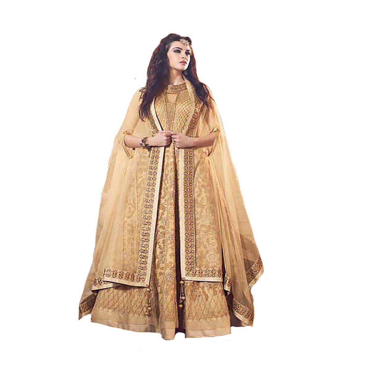 Indian party wear anarkali salwar kameez suit dupatta ceremony zoya