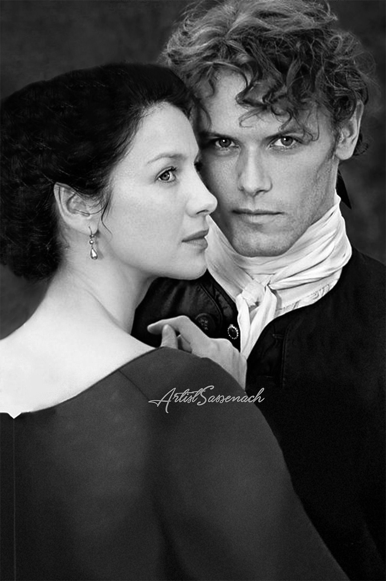 """betweenthescenes: """" artistsassenach: """" Jamie x Claire: TV Guide Cover (Without Logo) As requested by @sablelab :) """" """""""