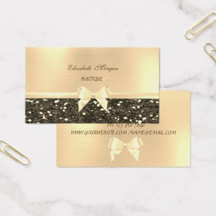 Elegant Chic Luxury Glittery Ribbon Bow Business Card Zazzle Com Elegant Chic Business Cards Elegant Personalized Wedding Gifts