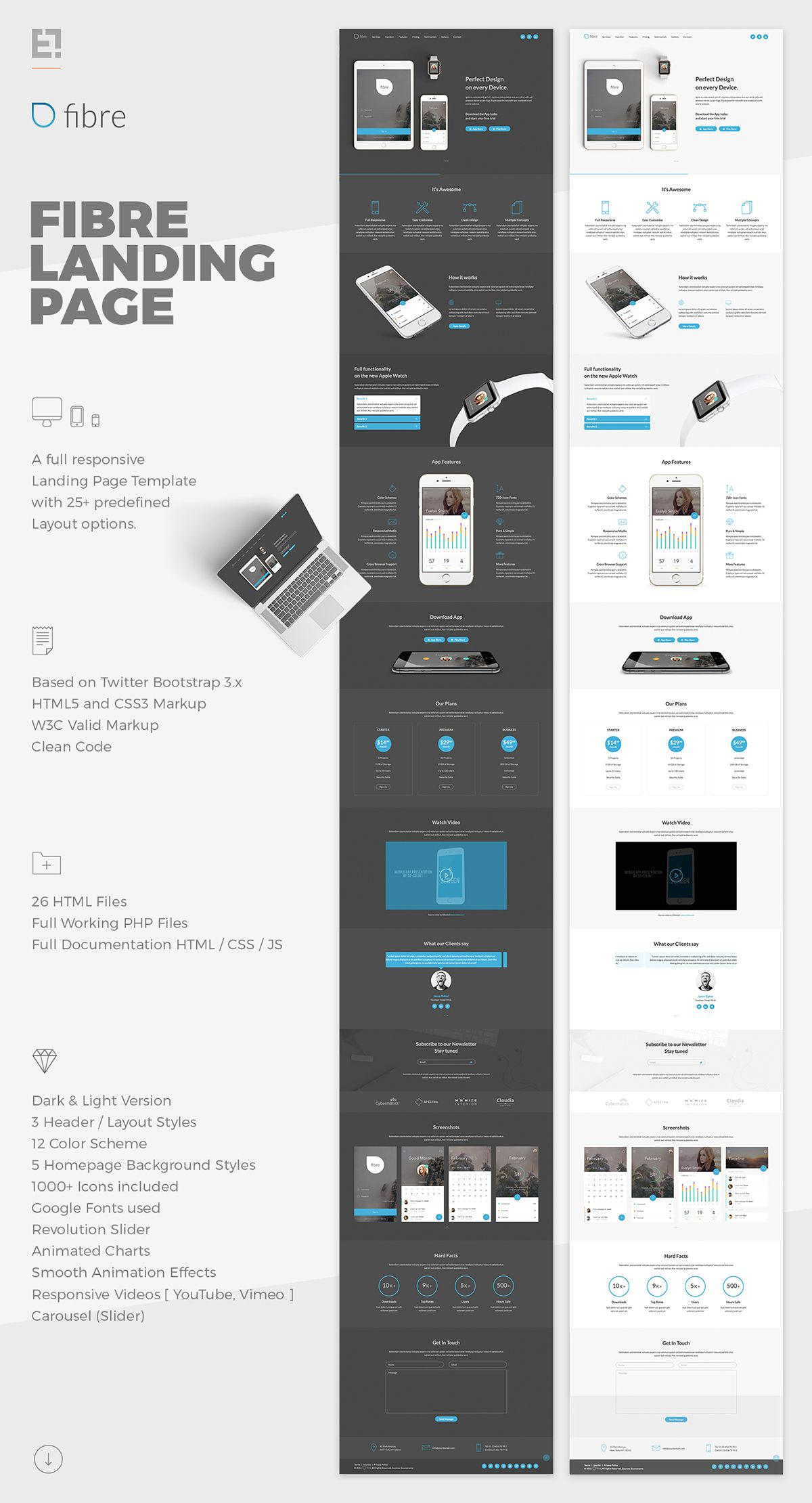 Fibre App Landing Page on Behance | Creative Design. | Pinterest ...