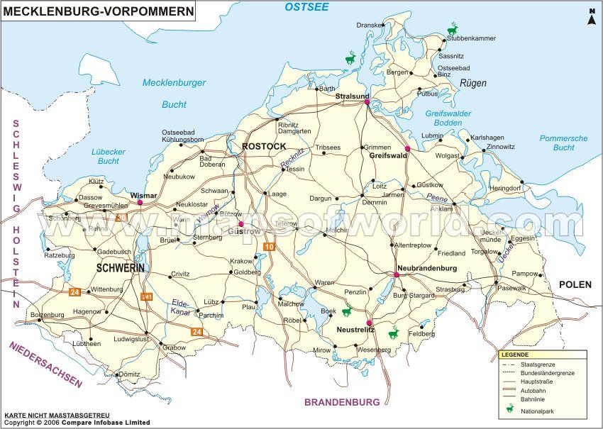 Mecklenburg Vorpommern Karte Deutschland Deutschland Karte