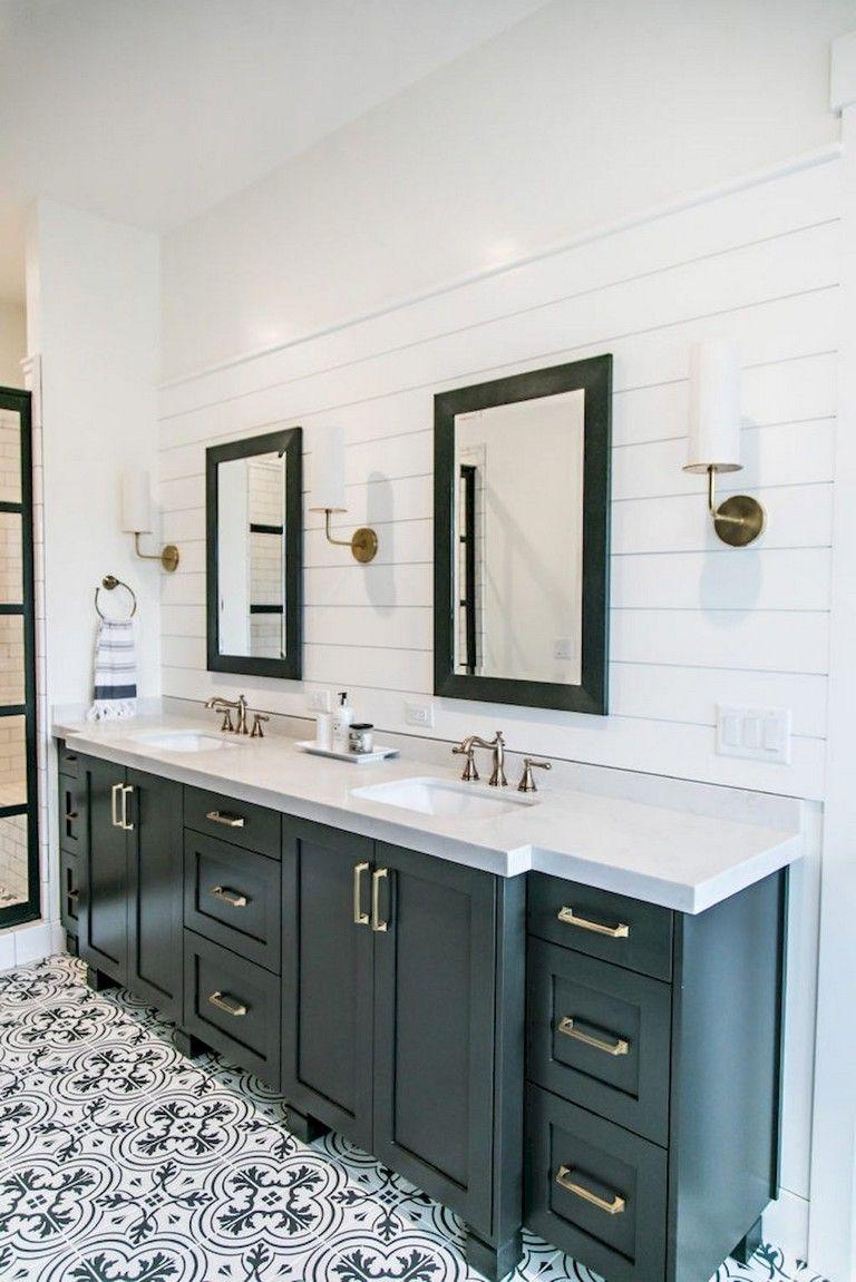 73 marvelous modern farmhouse style bathroom remodel decor ideas rh pinterest com
