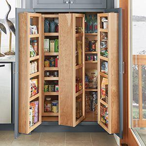 Angled Utensil Drawers | Corner kitchen pantry, Food ...