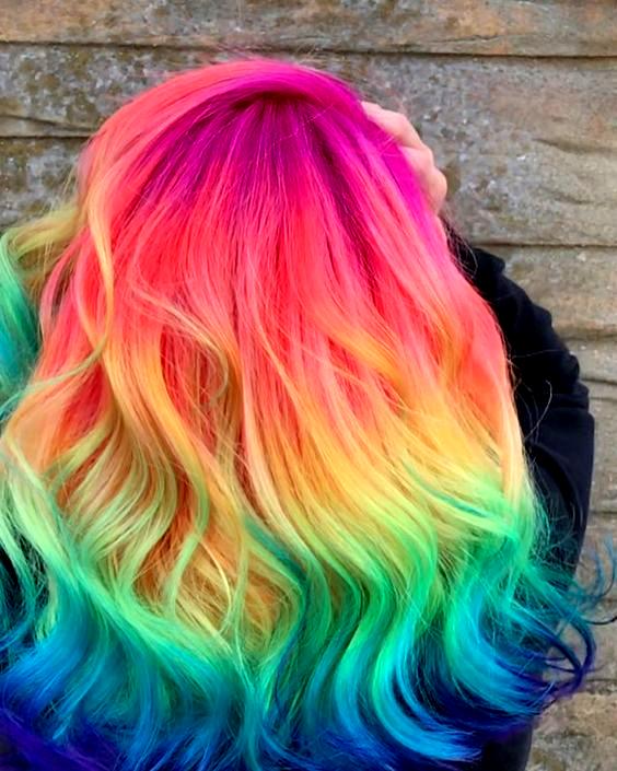 52 Ombre Rainbow Hair Colors To Try 2: 104 Pastell Und Auch Versteckte Regenbogen-Haarfarbe-Ideen